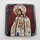 Ceramika i szkło Beata Kmieć,ikona ceramiczna,Fatimska,Maryja
