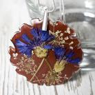 Naszyjniki biżuteria z żywicy chabry naszyjnik srebro