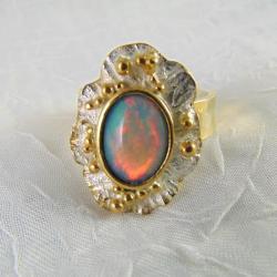 Pierścionek z opalem - Pierścionki - Biżuteria