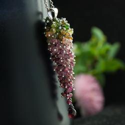 kolorowe grono,unikatowy,barwny,misterny - Wisiory - Biżuteria