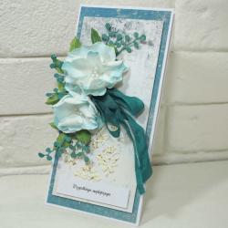Kartka,życzenia,scrapbooking, - Kartki okolicznościowe - Akcesoria