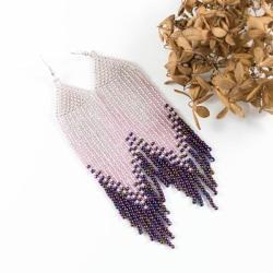 kolczyki z frędzlami,kolczyki indiańskie - Kolczyki - Biżuteria