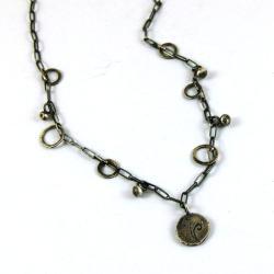 srebrny naszyjnik łańcuszek - Naszyjniki - Biżuteria