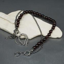 bransoletka,wire wrapping,serce,charmsy - Bransoletki - Biżuteria