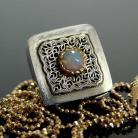 Naszyjniki srebro,srebro złocone,opal,wisior