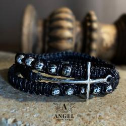 bransoleta różańcowa,męska biżuteria,różaniec - Dla mężczyzn - Biżuteria