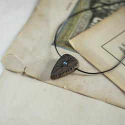 wisior z labradorytem,dreeniany wisiorek - Wisiory - Biżuteria