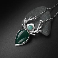 naszyjnik,onyks,biżuteria artystyczna,fiann - Naszyjniki - Biżuteria