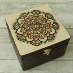 mandala,wypalanie,pudełko - Pudełka - Wyposażenie wnętrz