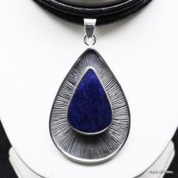 srebro,wisiory,lapis lazuli,biżuteria,naszyjniki - Wisiory - Biżuteria