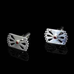 spinki z granatem,Marina Noske,Noske Design - Inne - Biżuteria