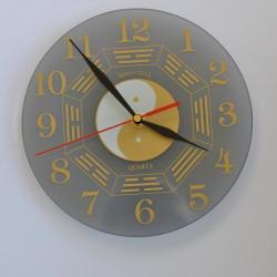 zegar,szkło - Zegary - Wyposażenie wnętrz