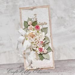 ślub,kartka,róże,gołąbki,obrączki - Kartki okolicznościowe - Akcesoria