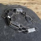 Bransoletki bransoletka srebrna,srebro oksydowane,