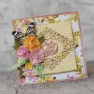 Kartki okolicznościowe urodziny,kwiaty,motyl,życzenia