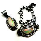 Komplety opale,blask,srebro,srebrne,delikatne,oksyda,retro