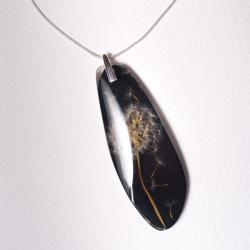 Naszyjnik z nasionami dmuchawca w czarnej żywicy - Naszyjniki - Biżuteria
