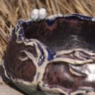 Ceramika i szkło misa,sowy,ceramika