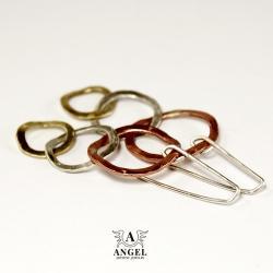 kolczyki,kółka,koła,damska biżuteria - Kolczyki - Biżuteria