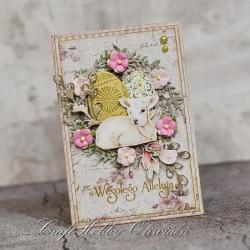 Wielkanoc,baranek,życzenia,pisanka,kartka - Kartki okolicznościowe - Akcesoria