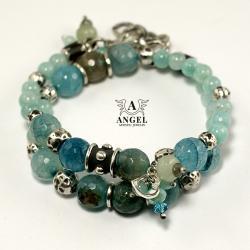 bransoleta damska,bizuteria z agatów - Bransoletki - Biżuteria