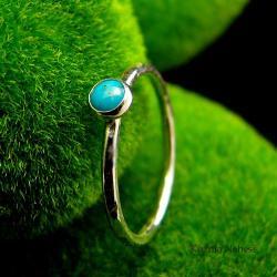 nehesi,pierścionek,turkusem,srebrny,pierscionek - Pierścionki - Biżuteria