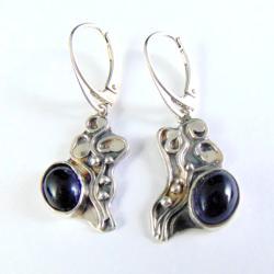 kolczyki srebrne z iolitami - Kolczyki - Biżuteria