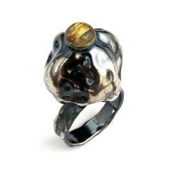 kwarc,fantom,srebrny,ZŁOTY,szary,rutylowy,rutyl - Pierścionki - Biżuteria