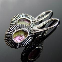 kolczyki,srebro,turmalin,Unikat - Kolczyki - Biżuteria