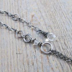delikatna bransoletka z kryształem górskim,srebro - Bransoletki - Biżuteria