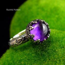 nehesi,pierścionek,srebrny,pierscionek,ametystem - Pierścionki - Biżuteria