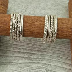obrączka ze srebra,obrączka z wzorem, - Pierścionki - Biżuteria