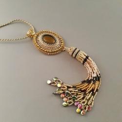 naszyjnik z chwostem,złoty,na prezent - Naszyjniki - Biżuteria