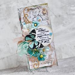 ślub,motyl,cytat,miłość - Kartki okolicznościowe - Akcesoria