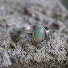 Pierścionki pierścionek srebro opal