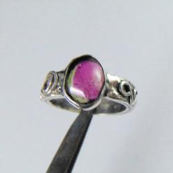 pierścionek srebrny zturmalinem - Pierścionki - Biżuteria