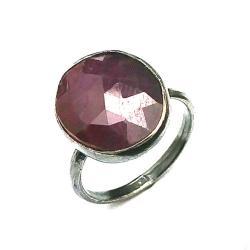 rubin,srebro,srebrny,bordo,jesienny,szary,blask, - Pierścionki - Biżuteria