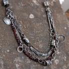Naszyjniki srebrny naszyjnik z granatem