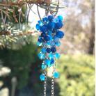 Kolczyki niebieskie,długie,grona
