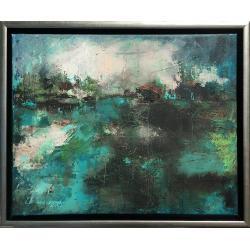 akryl,krajobraz,malarstwo,sztuka,obraz,wnętrze - Obrazy - Wyposażenie wnętrz
