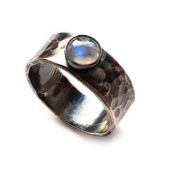 kamień księżycowy,blask,srebrny,szarości,błękit, - Pierścionki - Biżuteria