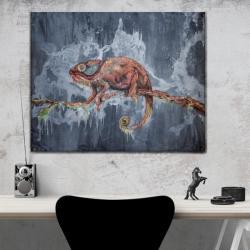 kameleon,obraz industrialny,loft,styl grunge - Obrazy - Wyposażenie wnętrz