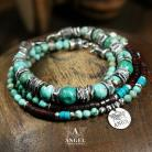Bransoletki surowa biżuteria,bransoleta z turkusem