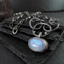 srebro,surowy - Naszyjniki - Biżuteria