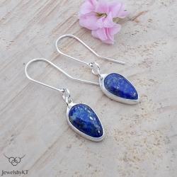 lekkie,nowoczesne kolczyki,lapis lazuli,JewelsbyKT - Kolczyki - Biżuteria