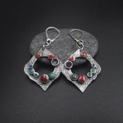 kolczyki,długie,srebrna biżuteria,boho - Kolczyki - Biżuteria