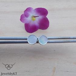 srebro,okrągłe,delikatne,sztyfty,JewelsbyKT - Kolczyki - Biżuteria