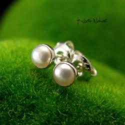 nehesi,kolczyki,srebrne,srebro,sztyfty,perłami - Kolczyki - Biżuteria