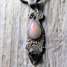 Wisiory wisior srebrny z opalami