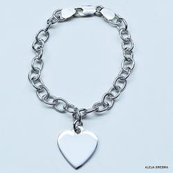 bransoleta srebrna,srebro,biżuteria,ozdoby - Bransoletki - Biżuteria
